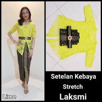 Setelan Kebaya Stretch Laksmi Lime