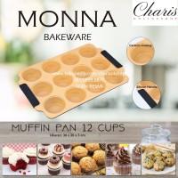 Jual SIGNORA MONNA BAKEWARE - Loyang Muffin Pan 12 cups Murah
