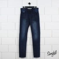 Lacoste Mens Slim Fit Five Pockets Stretch Cotton Denim Jeans Navy