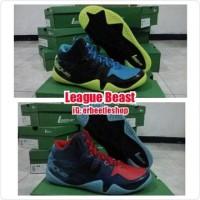 EKSKLUSIF sepatu Basket League Beast, Ori, New, Hitam Hijau Biru