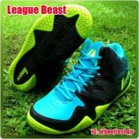 PRODUK BARU sepatu Basket League Beast, Ori, New, Hitam Hijau Biru
