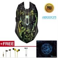 Alcatroz Mouse X-craft Pro Quantum Z7000 Free Mousematt & Sparkplug