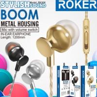 Headset Roker RK30K Boom handsfree earphone bass with mic
