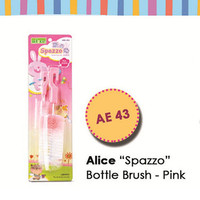 AE43 Alice Spazzo Bottle Brush Pink Sikat Botol Minum Kelinci