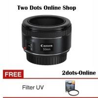 Canon Lensa EF 50mm / 50 mm f/1.8 STM + Free UV Filter