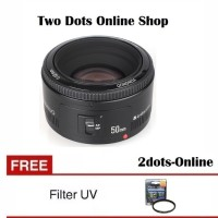 Yongnuo Lensa u/ Canon EF 50mm / 50 mm f/1.8 + Free UV Filter