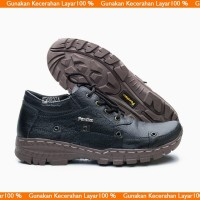 Sepatu boot pria boots casual zipper temali kulit asli BKS010