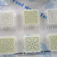 limited edition Ma Tau Fondant Decorative Punch Set - 6 mata KTK Putih