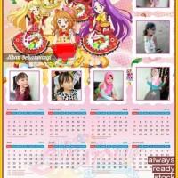 Kalender Poster Foto Aikatsu BONUS Laminasi Anti Luntur