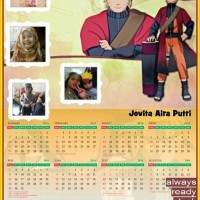 Kalender Poster Foto Custom Naruto BONUS Laminasi Anti Luntur