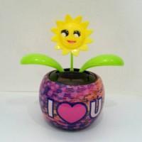 Bunga Goyang/Moving Plants/Pot Bunga Tenaga Solar Gard Hiasan Mobil