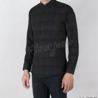 Baju kemeja kotak flanel pria lengan panjang bahan flannel slimfit HQ