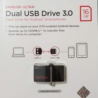 SANDISK FLASHDISK 130MB/S ULTRA DUAL DRIVE USB 3.0 16GB / USB OTG
