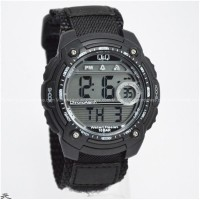 harga Jam Tangan Digital Original Qq , Qandq, Q & Q, Qnq M075 All Black Tokopedia.com