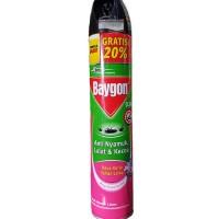 Baygon Aerosol Daya tahan lama 600ml + Extra 120ml