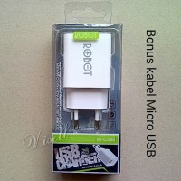 Charger ROBOT 2 USB for Samsung Asus Lenovo Oppo Xiaomi Sony & Tablet
