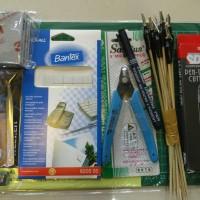 Starter pack set amplas for building gundam & model kit custom gunpla