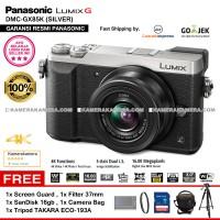 kamera panasonic lumix DMC gx85  silver RESMI+8GB+FILTER+TAS+TRIPOD