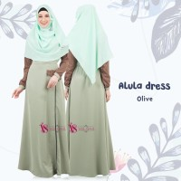 Gamis House Of Valisha Alula Dress Olive - baju gamis wanita busana