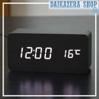 Jual Jam Alarm Kayu LED  Murah