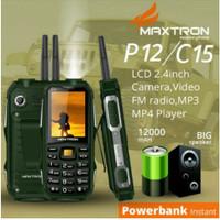 maxtron c15 hp powerbank 12000mah mirip prince pc9000 / brandcode b81