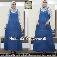 Setelan Outer Inner Overall Jeans Dress Muslim HELSINKI OVERALL SET