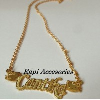 Kalung Emas Hello Kitty Nama Bergrafir - Perhiasan Nama