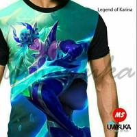 Harga kaos mobile legend of karina legends 3d umakuka moba mole ml hero   antitipu.com