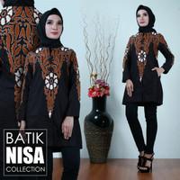 Harga baju batik blouse tunik atasan wanita bunga kris katun cap malam | Pembandingharga.com
