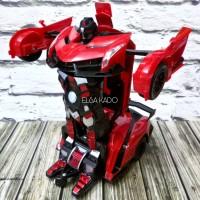 mainan mobil remote control transformer Rc car deformation robot auto