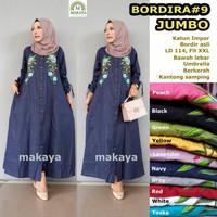 baju wanita gamis bordira 9 muslim unik cantik lucu modern trendi