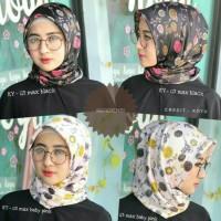 Hijab jilbab kerudung segi empat Maxmara murah motif cantik keren MX04