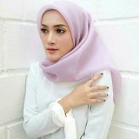 MURAH!! Jilbab kerudung segi empat Organza Polos Soft Purple