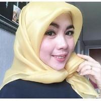 MURAH!! Jilbab kerudung segi empat Organza Polos Soft Yellow