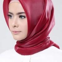 MURAH!! Jilbab kerudung segi empat Organza Polos Maroon