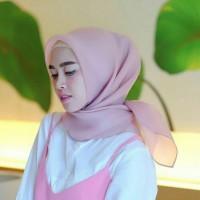 MURAH!! Jilbab kerudung segi empat Organza Polos Pink