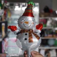 Balon Foil Snowman Boneka Salju Mini Christmas