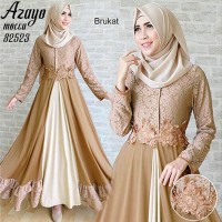 AZAYO gamis maxi dress lace brukat sleting depan busui