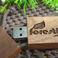 FLASHDISK / USB KAYU 4GB GRAFIR CUSTOM dan BOX
