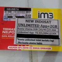Kartu Perdana Indosat Unlimited + 2 GB (App Unlimited +2gb utama)