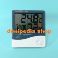 Digital Thermometer + Hygrometer + Clock Alarm ~ Jam Termometer HTC-1