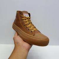 Sepatu converse Cokelat Kulit Sol Gum Kualitas ORI