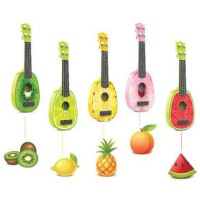 Ukulele Gitar Mainan Gambar Buah-Buahan - Multi-Color