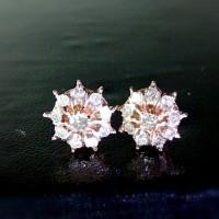 Anting Tusuk Mewah Wanita Emas Asli Berlian/Gold Diamond Murah