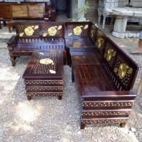 kursi meja tamu makan teras furniture minimalis retro sudut jati