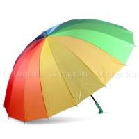 Payung Golf Pelangi Rainbow 16 jari. Jualan Besar Jumbo Umbrella