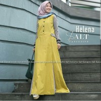 SUPER MURAH FASHION WANITA HELINA DRESS YELLOW