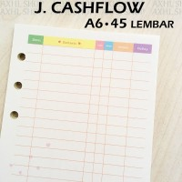 Sunny Day Loose Leaf Binder Paper A6 J Kertas File Cash Flow Keuangan