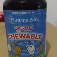 Puritan Pride PREVIT MINERAL 100 Tab VITAMIN ANAK - Pre Vites Chewable