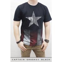 Kaos Premium Spandex Superhero Captain America SH127
